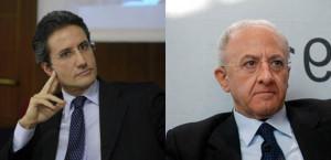 Stefano Caldoro e Vincenzo De Luca.