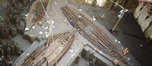 Navi di epoca romana rinvenuti durante gli scavi della metropolitana.