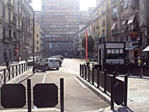 Piazza Mancini, lugo dell' agguato.
