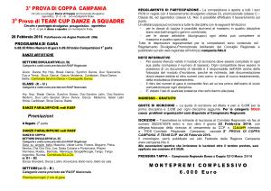 Palavesuvio, programma 3° Coppa Campania