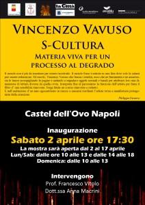 Vincenzo Vavuso, mostra S-Cultura a Napoli