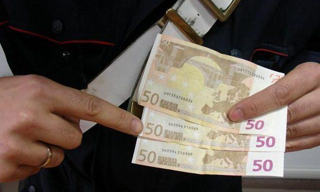 scoperto, banconote false