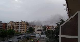 Incendio a Casalnuovo