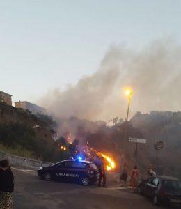 solfatara in fiamme