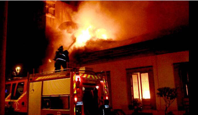 Incendio a Marano