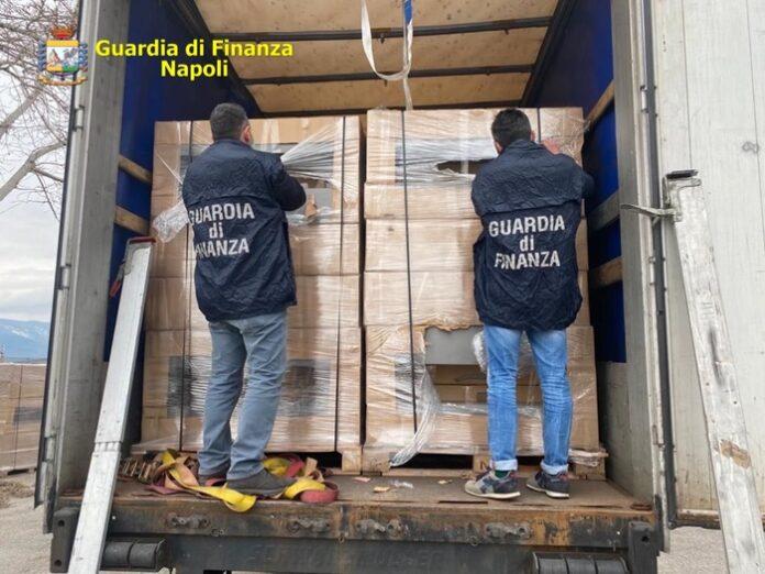 Sequestrate 4 tonnellate di sigarette