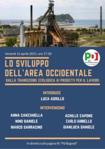 """Iniziativa Pd Bagnoli: """"Lo sviluppo dell'area occidentale, dalla transizione ecologica ai progetti per il lavoro"""