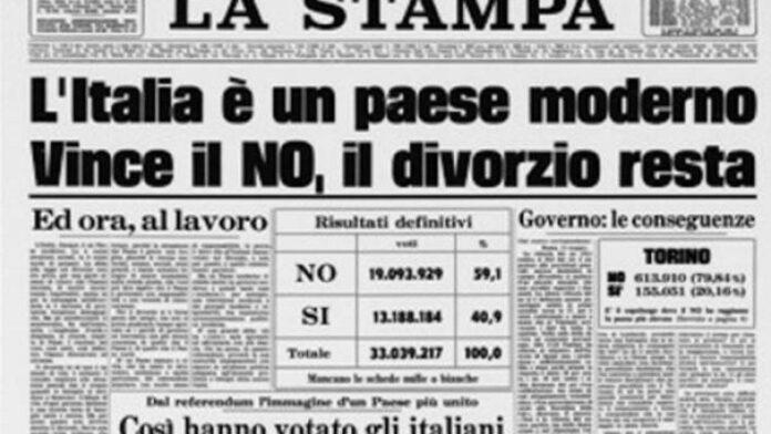 referendum abrogativo divorzio 1974