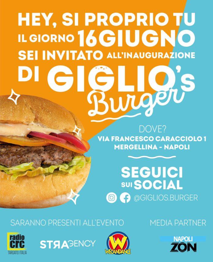 Giiglio's burger inaugurazione