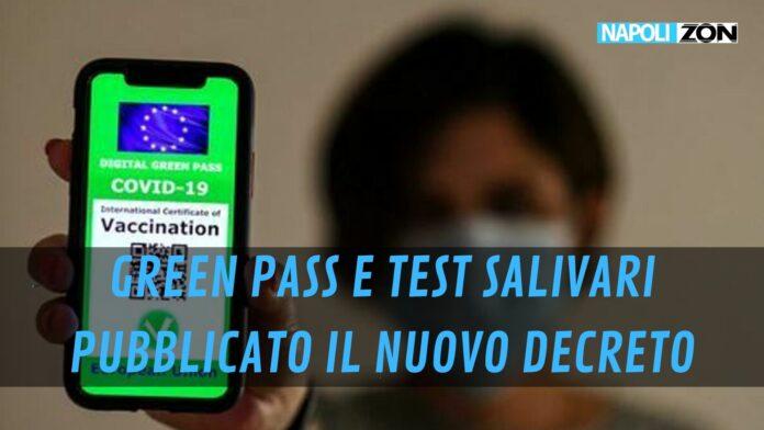 Tamponi salivari green pass